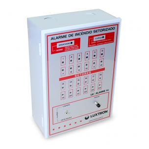 Central de Alarme 24L/ 12V com Bateria Interna - Luxtron
