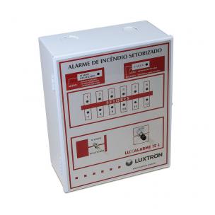 Central de Alarme 12L/ 12V com Bateria Interna - Luxtron