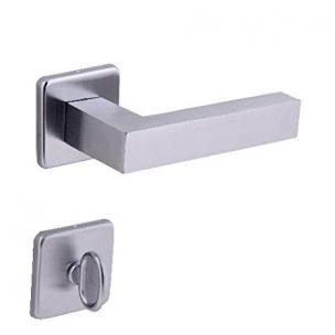 Fechadura Banheiro Quadrada ZCE Escovado 40mm - Arouca