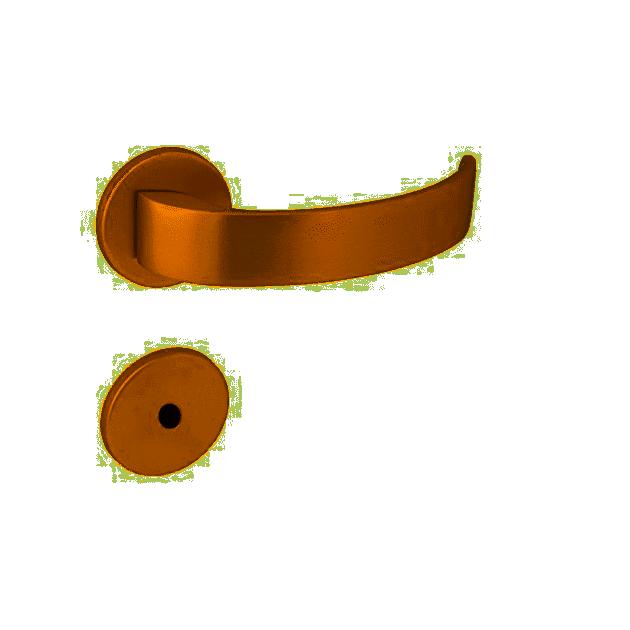 Fechadura para Banheiro Arc 55mm Rosê Gold - Arouca