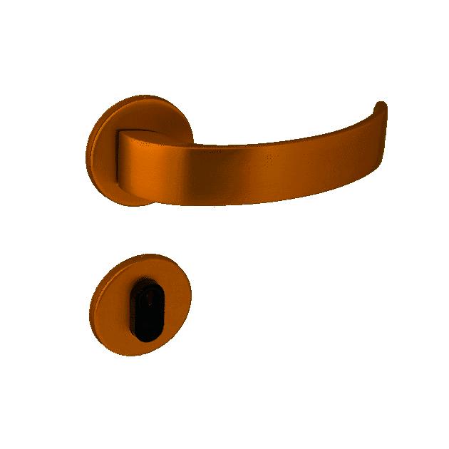 Fechadura Externa ARC 55mm Rosê Gold - Arouca