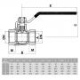 Registro Esfera para Gás Alavanca FF 1/2 - WOG