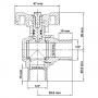 Registro de Esfera para Gás MM 1/2x1/2 - WOG