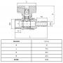 Registro Esfera para Gás com Bico 1/2x3/8 - WOG