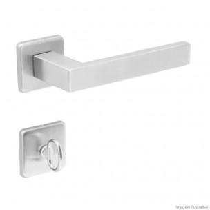 Fechadura para Banheiro Quadra 55mm INOX - Arouca
