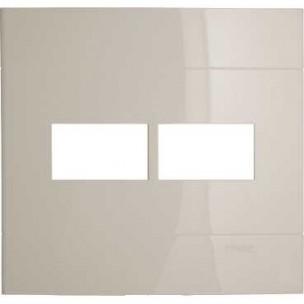 Placa 4x4 2 Postos Separados Marfim Saara Decor Schneider
